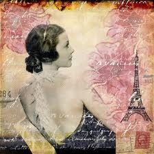 To Life, To Love - Eiffel Tower Paris Art Nouveau Pink Floral Tiara Crown Glamorous Mixed Media Collage Art Print Paris Kunst, Paris Art, Scrapbook Canvas, Collage Art Mixed Media, Poster Prints, Art Prints, Paris Theme, Vintage Paris, Oui Oui