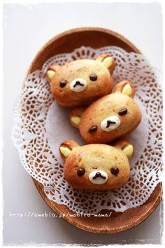 Rilakkuma banana cake     #food #bento #rilakkuma