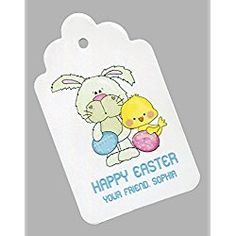 Easter Gift Tags, Bunny with Eggs and Chick, Personalized Set of 25 Easter Gift, Happy Easter, Shirt Quilt, Discount Toms, Gift Tags, Coupons, Bunny, Eggs, Discount Beauty