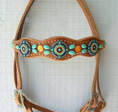 Turquoise Headstalls - Inspired Turquoise by Red Turf Ranch Custom Tack<br /> Rocking Your World Since The Year 2000!