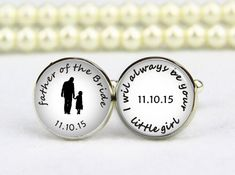 Father of the Bride, Groom Cufflinks- Photo Cufflinks- Wedding ...