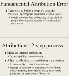 Fundamental attribution error (social psych)