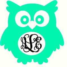 Owl Monogram Decal *FREE SHIPPING*