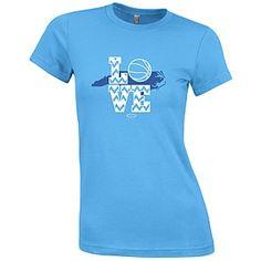 Ladies' Chevron Love Basketball T-shirt from Johnny T-shirt - GAA members save 10% on all purchases. http://alumni.unc.edu