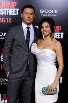 Channing Tatum and his wife Jenna Dewan-Tatum at the 21 Jump Street premiere. How can two people be so beautiful?!
