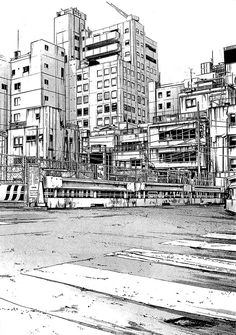 24-Kiyohiko-Azuma-Architectural-Urban-Sketches-and-Cityscape-Drawings-www-designstack-co