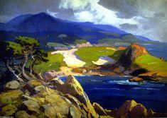 'Cypress Point', Oil On Canvas by Franz Bischoff (1864-1929, Austria)