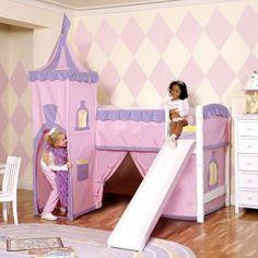 Fun girl bedroom #home #kids