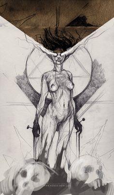 Pencil art By Bastien Lecouffe Deharme