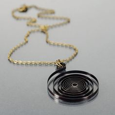 Steampunk Jewelry Upcycled Clock Spring Necklace by Tanith on Etsy  $28.00