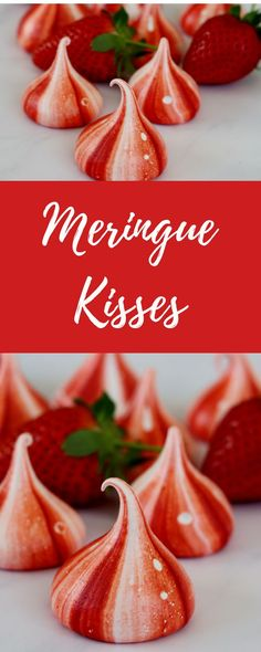 Meringue kisses are really easy to make and look so pretty. They are great in a dessert but also to add something extra special to a celebration cake.