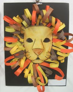 Construction Paper Lion Heads | Inspired Class