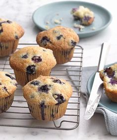 Blueberry Muffins | Top off your summer celebrations with these sweet (and easy) blueberry treats.