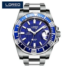 99.00$  Buy here - http://alinxc.worldwells.pw/go.php?t=32786585111 - LOREO shark series diver automatic self-wind luminous DIVER 200M oyster perpetual air-king relogio masculino 116622 99.00$