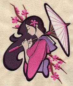 Anime Geisha design (UT3315) from UrbanThreads.com on Bailey's quilt?