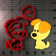 LUC Cartoon Animal Dog Head Custom Made 3D Printed Fondant Cupcake Top Biscuit Cutter Set Confeitaria Cookie Cutter Baking Tools