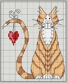 Кошки, котики, коты ...24 схемы для вышивки крестом