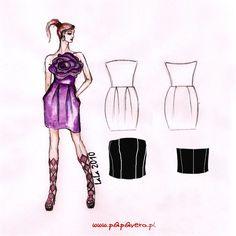 Wykrój do pobrania, projekt sukienki LaLa