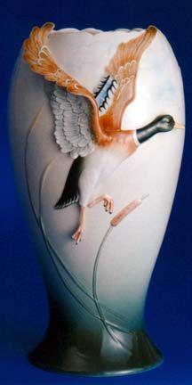 franz porcelain duck vase