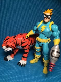 Spaceman Spiff and Hobbes (Calvin and Hobbes) (Masters of the Universe) Custom Action Figure