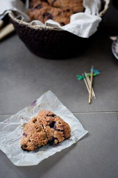 whole wheat blueberry scones • top with cinnamon