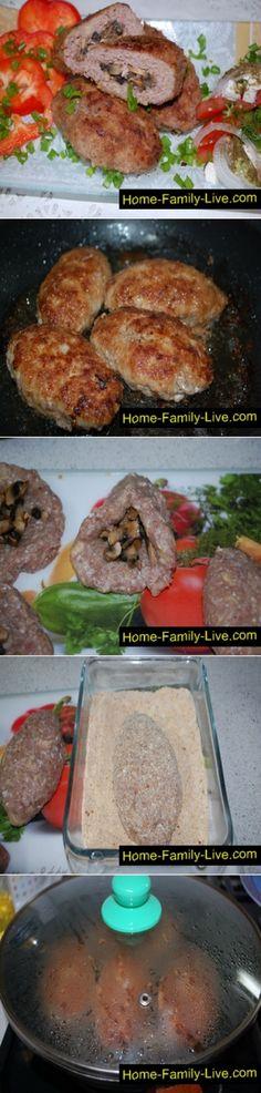Зразы с грибами/Сайт с пошаговыми рецептами с фото для тех кто любит готовить