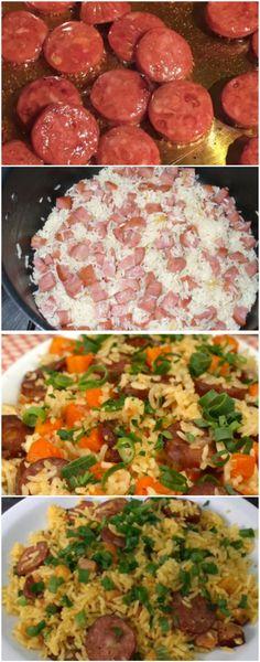 ARROZ MEXIDINHO FEITO NA PANELA DE PRESSÃO! SIMPLESMENTE M-A-R-A-V-I-L-H-O-S-O E MUITO RÁPIDO! (veja a receita) #arroz #arrozdepaneladepressão Speed Foods, Milanesa, Big Mac, Carne, Bbq, Food And Drink, Rice, Cooking, Ethnic Recipes