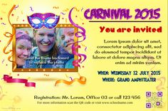 Carnival party flyer http://www.postermywall.com/index.php/poster/view/83827ec7b1430d2b5417ab207ddbc4b5