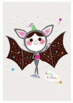 Marc Boutavant ansichtkaart happy birthday batgirl | PSikhouvanjou