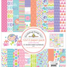 "Doodlebug Under The Sea Double-Sided Paper Pack 12"" x 12"""