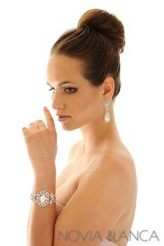 bridal earrings and bracelet by www.novia-blanca.pl  biżuteria ślubna NOVIA BLANCA