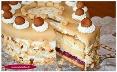 Kirsch - Mandel - Marzipantorte - Tanja`s glutenfreies Kochbuch Cookies And Cream Cake, Cake Mix Cookies, Cookies Et Biscuits, Chocolate Cookie Recipes, Easy Cookie Recipes, Chocolate Chip Cookies, Cake Mix Recipes, Dessert Recipes, Marzipan Cake