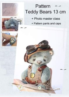 PDF Pattern Teddy By Tatiana Lisevich - You can make your own Teddy BearThis listing is for a sewing pattern only, not an actual teddy bear.Manual creation of teddy bears attached.Master class is created with photos I took pictures of every step in the creation of bears, from the moment the patter...