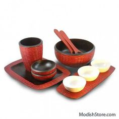 Enrico Mango Wood Honeycomb Set/6 - Chili Pepper – Modish Store