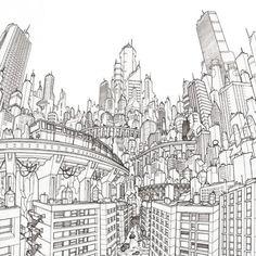 city illustration b http://www.archdaily.com.br/59955/arte-e-arquitetura-a-cidade-global-deck-two/