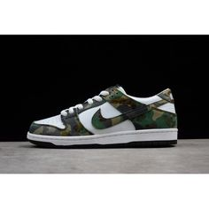 promo code b586b 46bc0 Outlet Nike SB DUNK LOW POR IW Men Shoes Camo White Green Sale