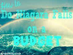 How to Do Niagara Falls on a Budget #traveltips #newyork #canada