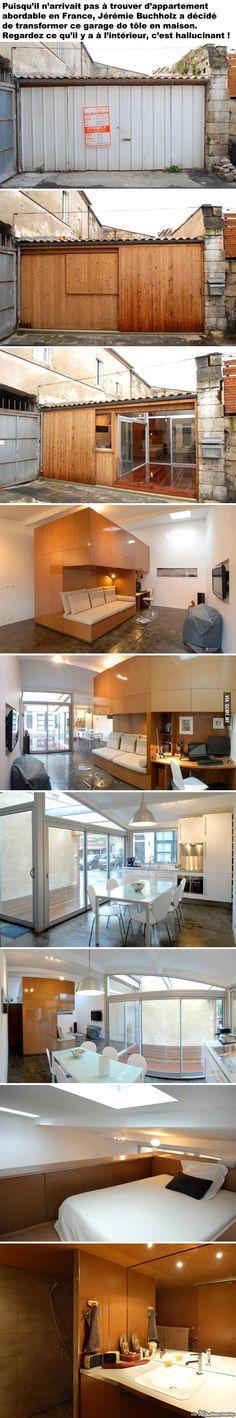 Garage transformé en loft
