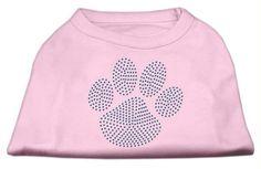 Blue Paw Rhinestud Shirt Light Pink XXL (18)