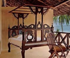 wooden Lamu bed and chair