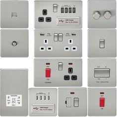 néons Blanc Mat Screwless 13 A Smart 2 G Switched Socket avec Double USB Chargeur