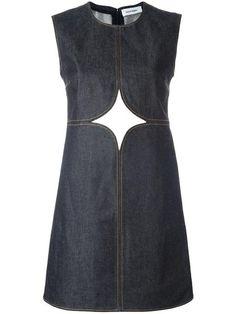 Shop Courrèges cut-off detailing denim dress.