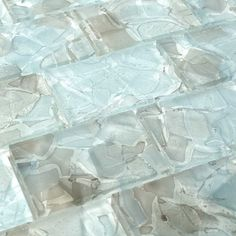 Liquid Glass Mosaic Tile Aqua 2 x 3