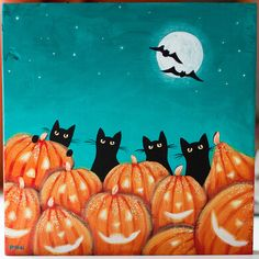 Cats and Jack O'Lanterns by Kilkennycat, via Flickr