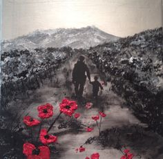 Remembrance Day art by Jacqueline Hurley Painting 'My Knight In Body Armour' Remembrance Day Pictures, Remembrance Day Poppy, Lest We Forget Tattoo, Soldier Tattoo, Ww1 Art, Remembrance Tattoos, Tribute Tattoos, War Tattoo, Poppies Tattoo