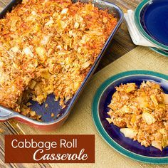 Cabbage Roll Casserole - WAS DELICIOUS, inexpensive, and easy to make. Made it without rice but served with roasted red potatoes. So good. Will make again. Recommended. Can go veggie with crumbles vs. ground beef.