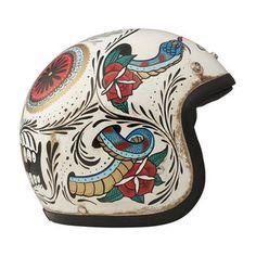 helmets … Motorcycle Helmet Design, Motorcycle Tank, Bike Helmets, Biker Accessories, Baby Helmet, Biker Wear, Vintage Helmet, Moto Cafe, Helmet Paint