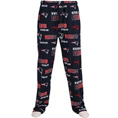 New England Patriots NFL Sweep Logo Mens Printed Knit Sle...