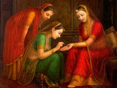 Henna Beauties Paintings Detail - All India Arts