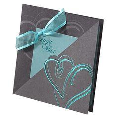 """Einladungskarte """"Isabella"""" in Grau"""